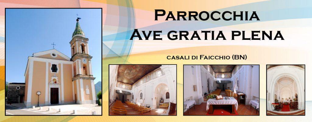 logo parrocchia Casali di Faicchio Ave Gratia Plena