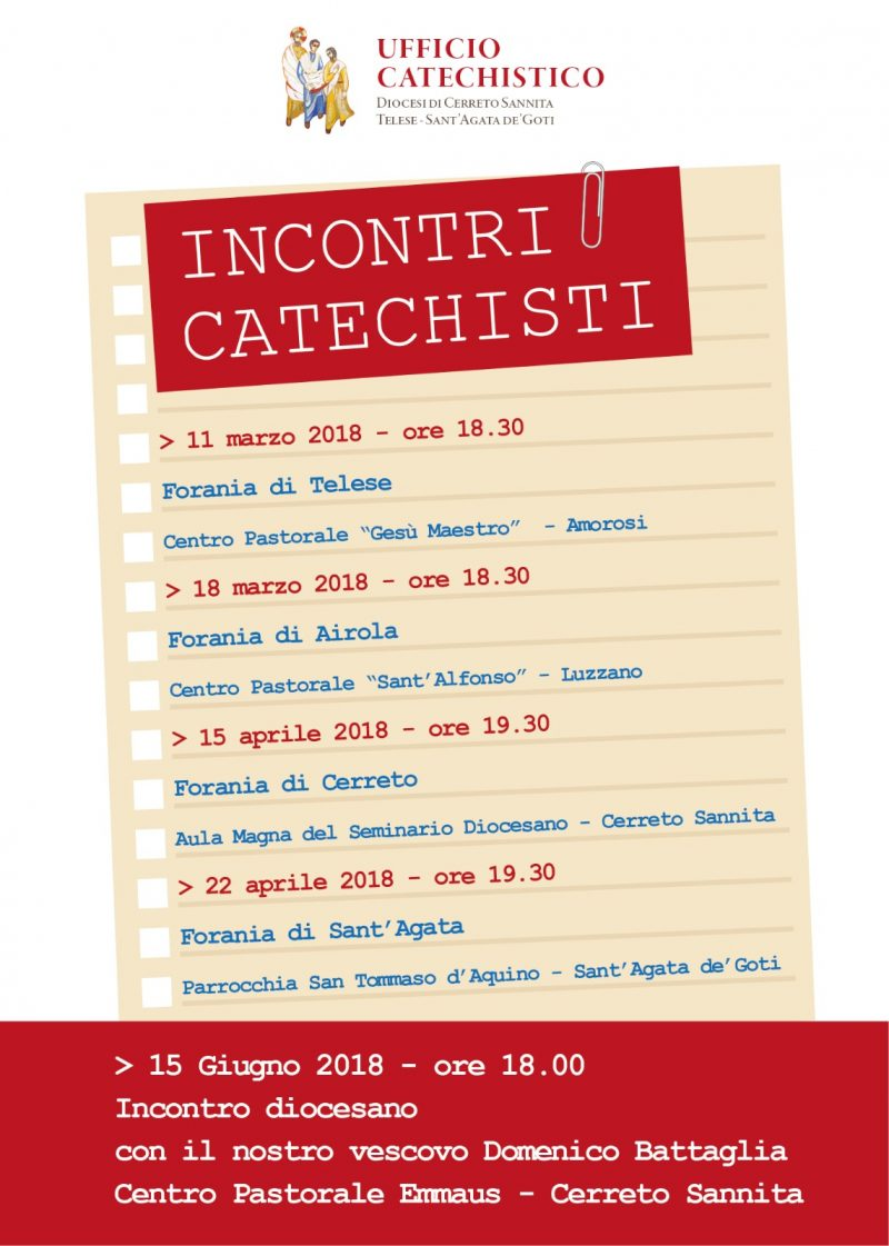 Incontri Catechesi 2018